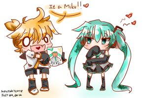 I DRAW THING FOR YOU MIKU NEE by SquishyCatz