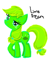 New MLP OC - Lime Dream by Japanzii