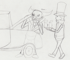 WIP Don Paolo and Layton by SamCyberCat