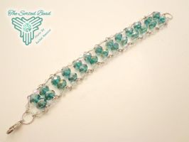 Teal Ladder Bracelet by TheSortedBead
