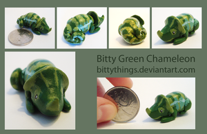 Bitty Green Chameleon - SOLD by Bittythings