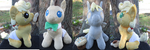 Baby Pony Plushies for Sale! by Drachefrau