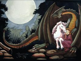 dragon and the unicorn by wreni