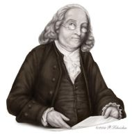 Benjamin Franklin by nachtwulf