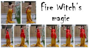 fire witch's magic 1 by syccas-stock