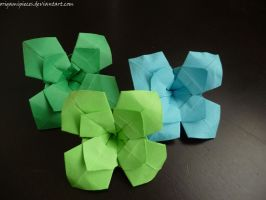 Origami Erny Flower by OrigamiPieces
