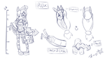 character design/concept sheet Rox by Dark-Hart-Design