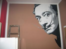 Salvador Dali in my kitchen 2 by Burgi687