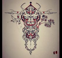 Bull tattoo design by RemiisMeltingDots