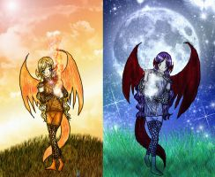 Sol y Luna. Nicauri y Antauri by warlike-magic