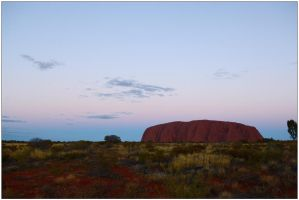 Evening at Uluru by wildplaces