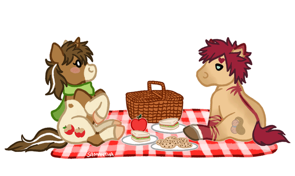 Squishy Picnic by Sandy--Apples