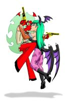 Scanty vs Morrigan by Zombie-Pacman