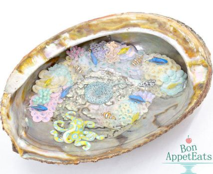 Miniature Coral Reef Inside an Abalone Shell by Bon-AppetEats