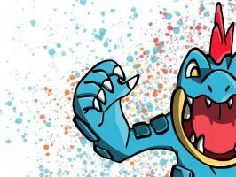 Feraligatr Pop art by Monnick