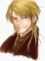Man with blond hair by juonkung