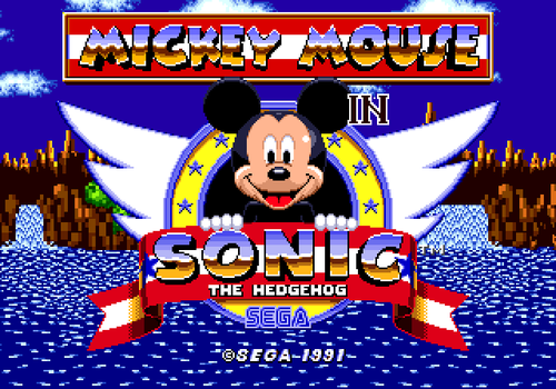 Mickey Mouse In Sonic 1 by JSevion