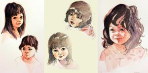 Daughters Portrait Set by taho