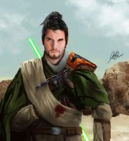 Adoptable Star Wars Jedi Character Portrait [Sold] by Entar0178