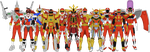 All Red Ranger Battlizers by Taiko554