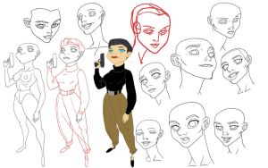 Model Sheet: Genevieve by HughFreeman