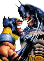 wolvie batman by rogercruz