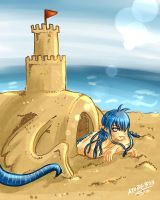 Rem: Sand Castle Contest by Atobe333