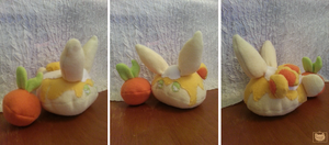Peaches and Cream Bunbon Plushie by Ambercatlucky2