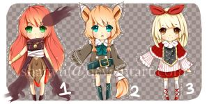 Chibi Adoptable Batch {OPEN} by shanyii