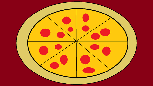 Drawing of a Pepperoni Pizza by PIZZAPIE97