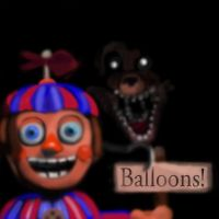 Balloon Boy and Foxy by SeaMonsterChris