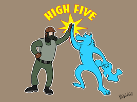 High Five by TheSpectral-Wolf