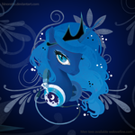 MLP FIM: Luna Portrait - Welovefine Shirt by hinoraito