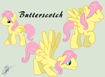Fluttershy Stallion (a.k.a. Butterscotch) by IIAmethystSkyII