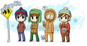 South Park: Bus stop by Kamaniki