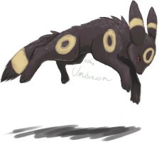 Jumping Umbreon by umbbe