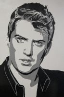 Joshua Homme Stencil by Cabbages