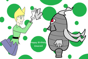 Emerald and Dusclops by Jolt11