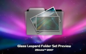 Glass Leopard Folder Preview by neodesktop