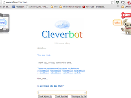 Cleverbot won't say Goodbye. by Zerg620