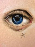 Eye watercolor by Pollypockets69