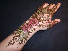 Floral Henna - With Gilding by inkeyling