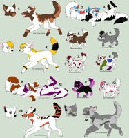 Wolf Adoptables (CHEAP! OPEN) by Amazing-Max
