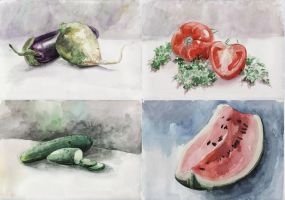 watercolor sketches2 by TinaGrey