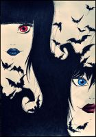 Evil Sisters by psychotoxicc
