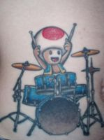 Toad playing drums by twistietie