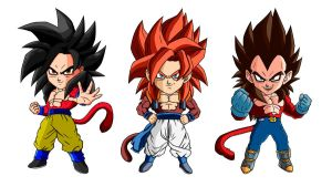 Super Saiyans 4 by Dhencod