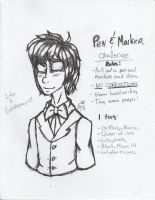 TRADITIONAL: Pen and Marker Challenge- Gentleman by InvaderIka