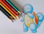 Giggly Squirtle by Psychic-MoonShadow