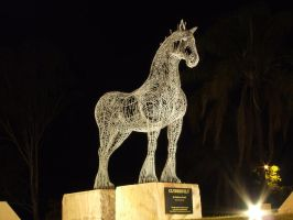 Clydesdale Statue 002 - Stock by EasternBrumbyStock